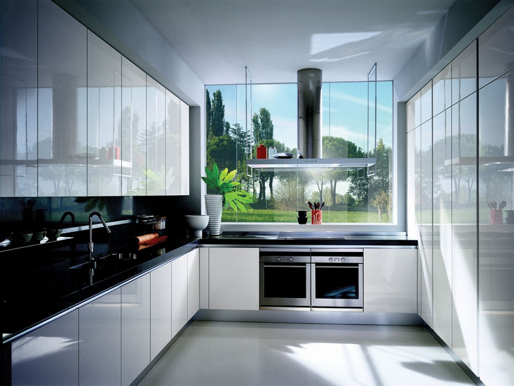 Все про оформление кухни в стиле хай-тек