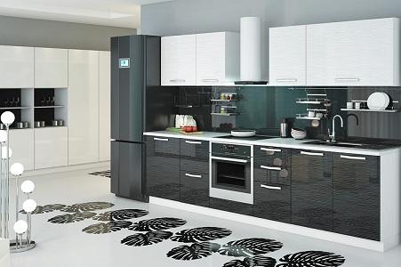 Дизайн черно-белой кухни, как правильно подобрать элементы интерьера, фартук, шторы, напольное покрытие, стол, стулья