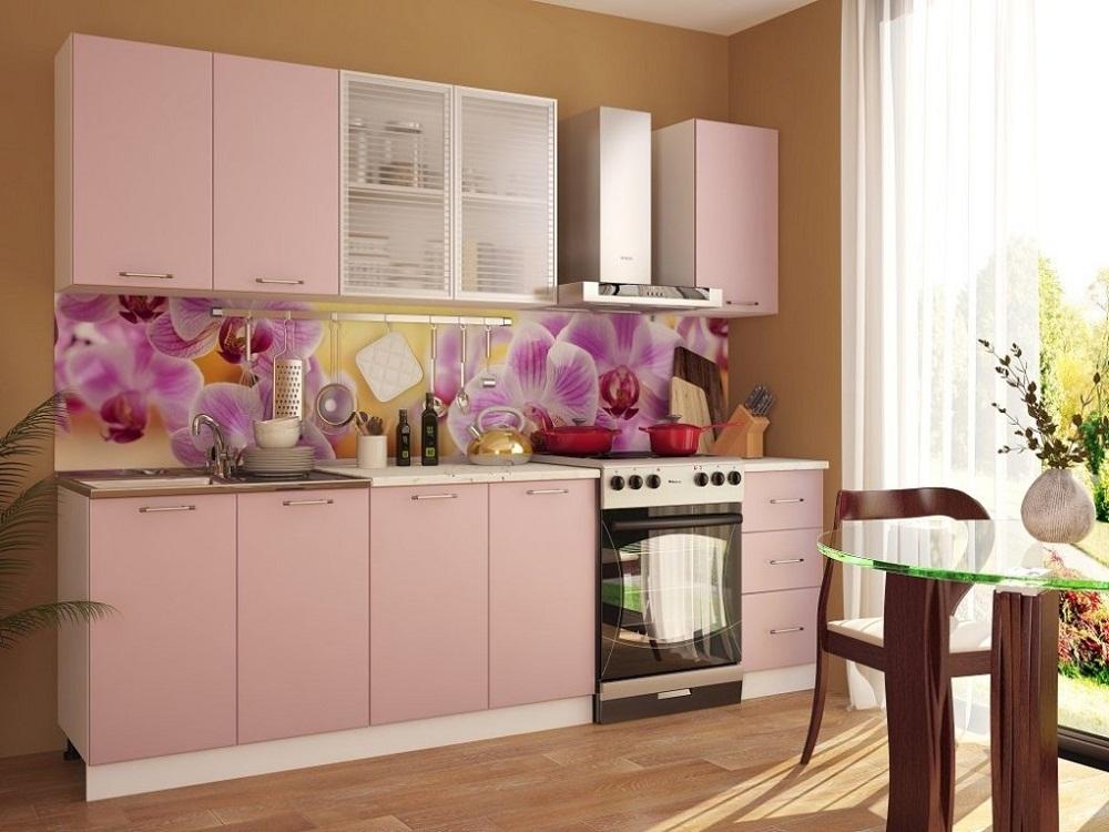 Фартук для кухни в розовом цвете