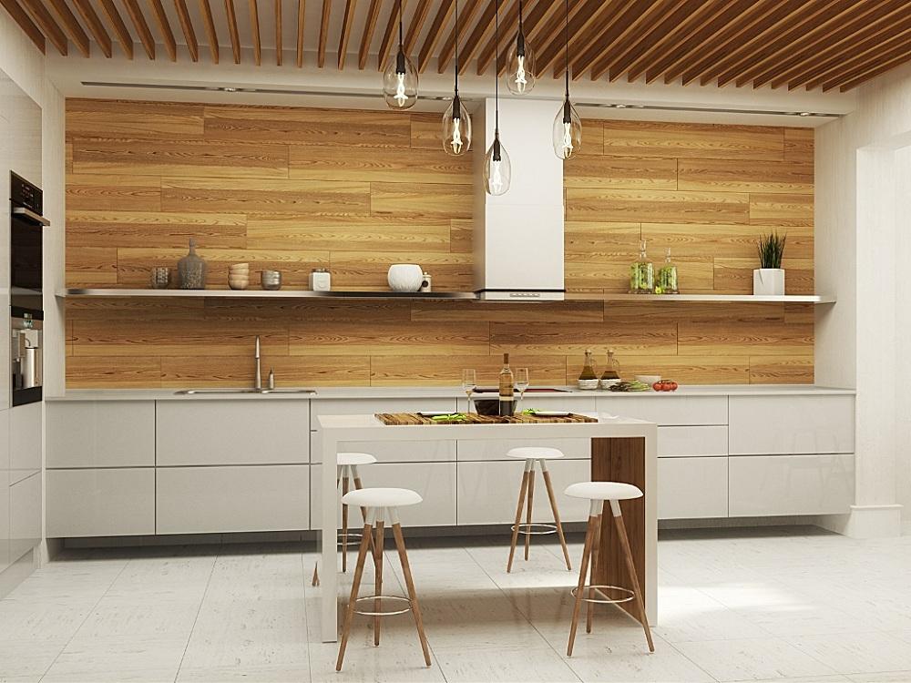 Фартук и столешница для кухни в стиле минимализм