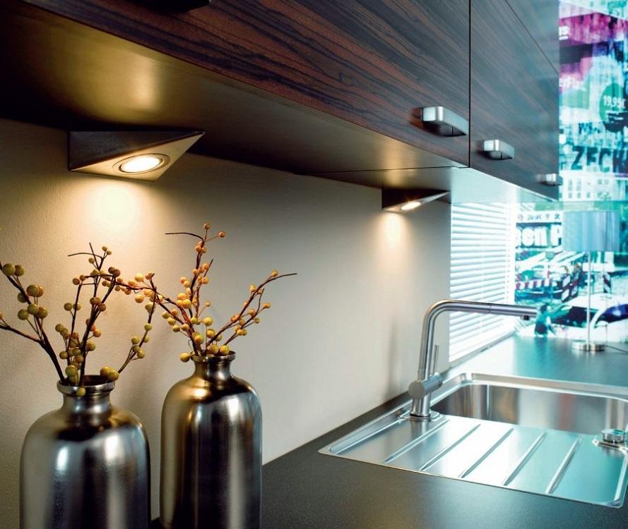 Галогенные лампы для точечных светильников на кухне