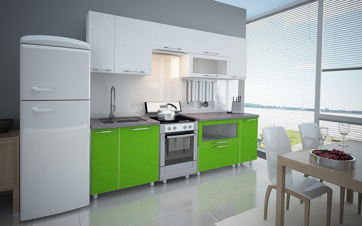 Холодильник для зеленой кухни