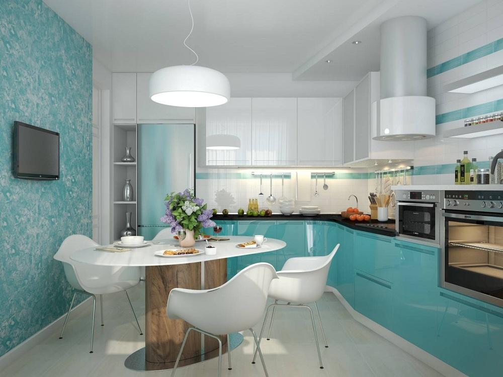 Отделка стен на кухне жидкими обоями: преимущества и недостатки, идеи, фото
