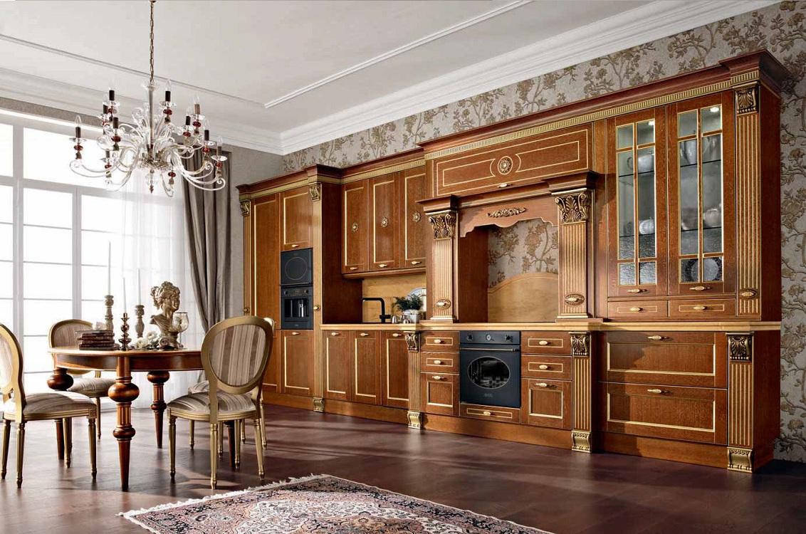 Кухни из дерева в классическом стиле
