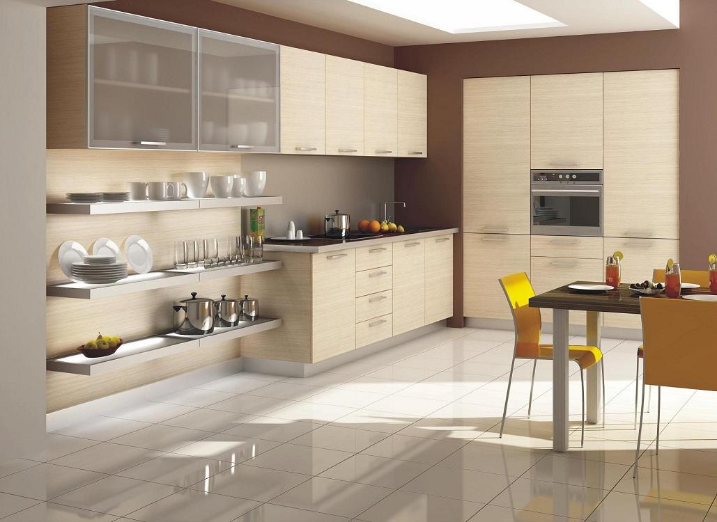 Кухни в оттенках бежевого цвета
