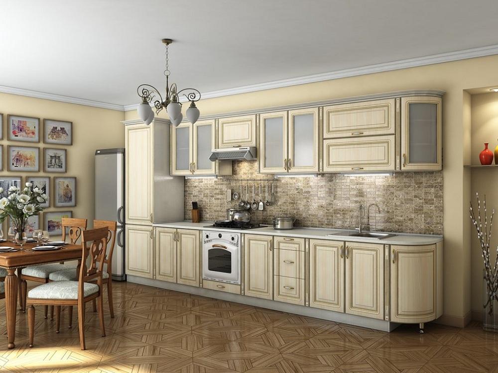 Кухня с патиной в классическом стиле