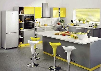 Кухня в лимонном цвете