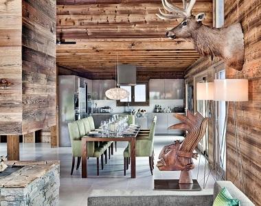 Интерьер кухни в стиле шале, цветовая гамма и особенности отделки помещения