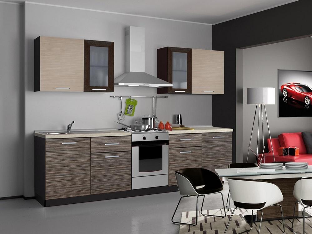 Кухня зебрано серый оттенок