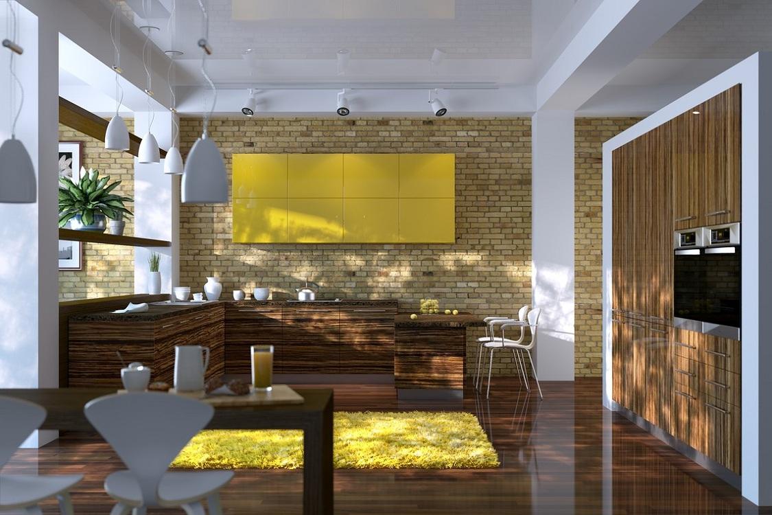 Кухня зебрано в стиле лофт