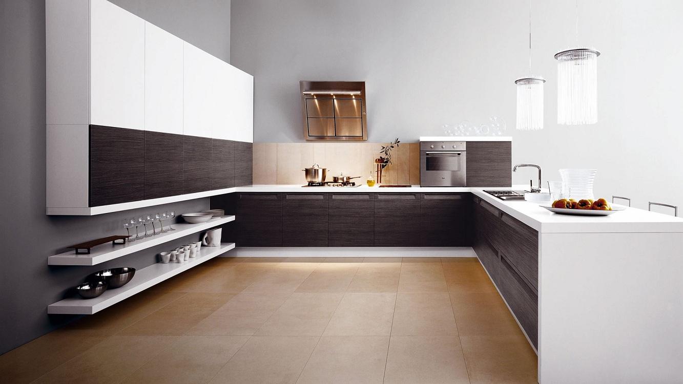 Кухня зебрано в стиле минимализм