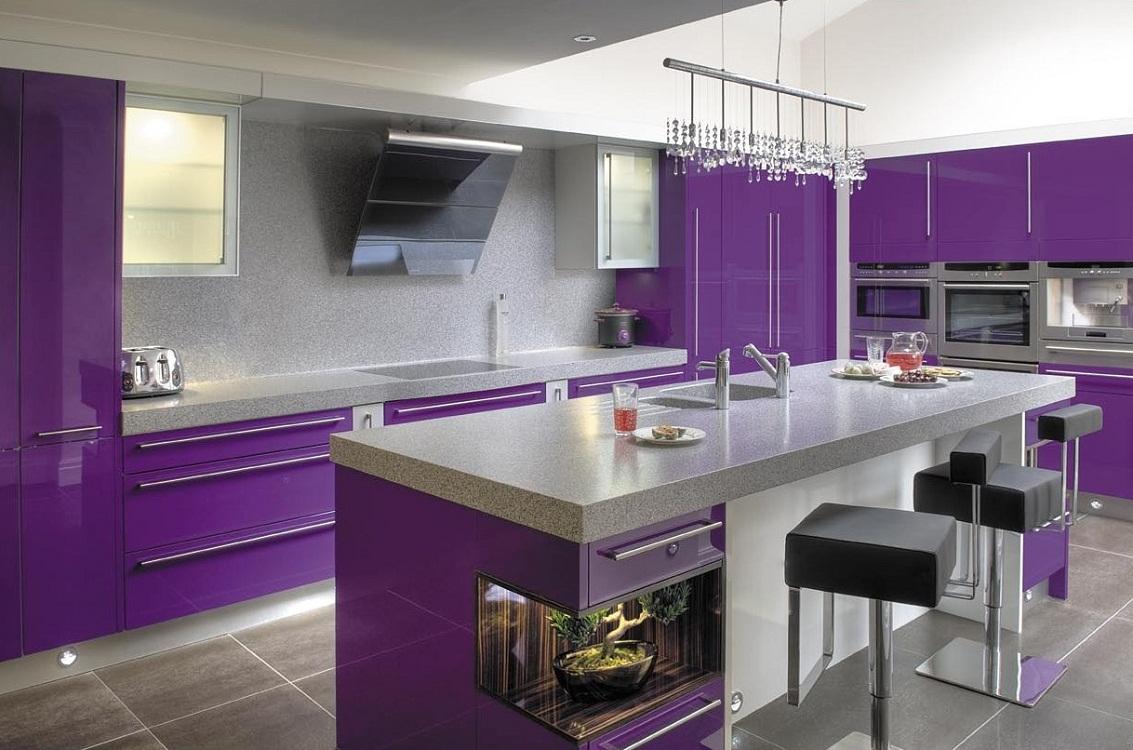 Кухонный гарнитур для фиолетовой кухни