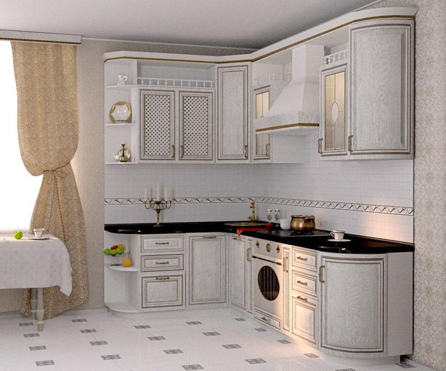 Маленькие угловые кухни в классическом стиле