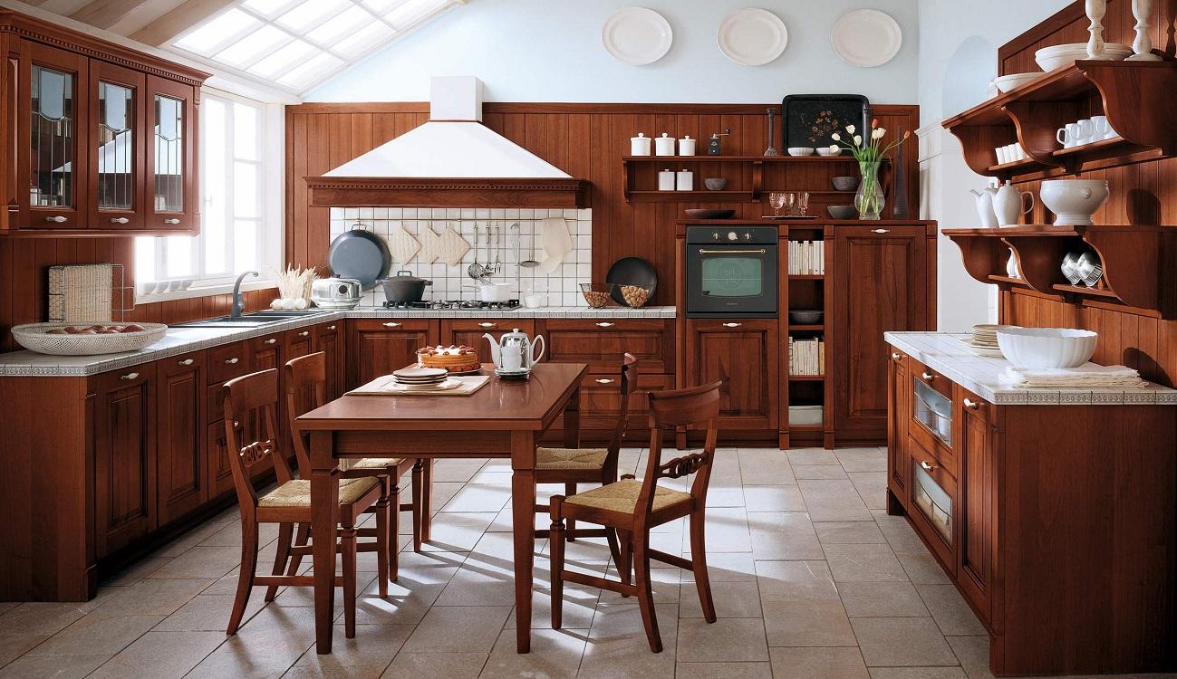 Материал для изготовления кухонь из дерева