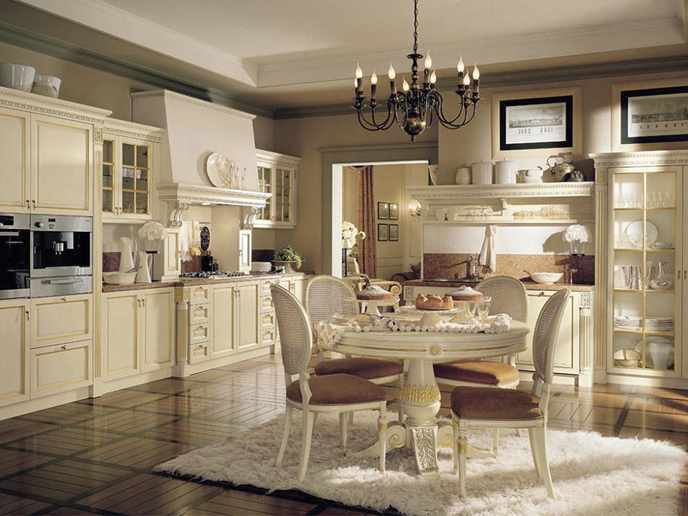 Мебель для кухни цвета айвори