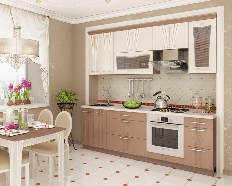Мебель для кухни в бежевых тонах