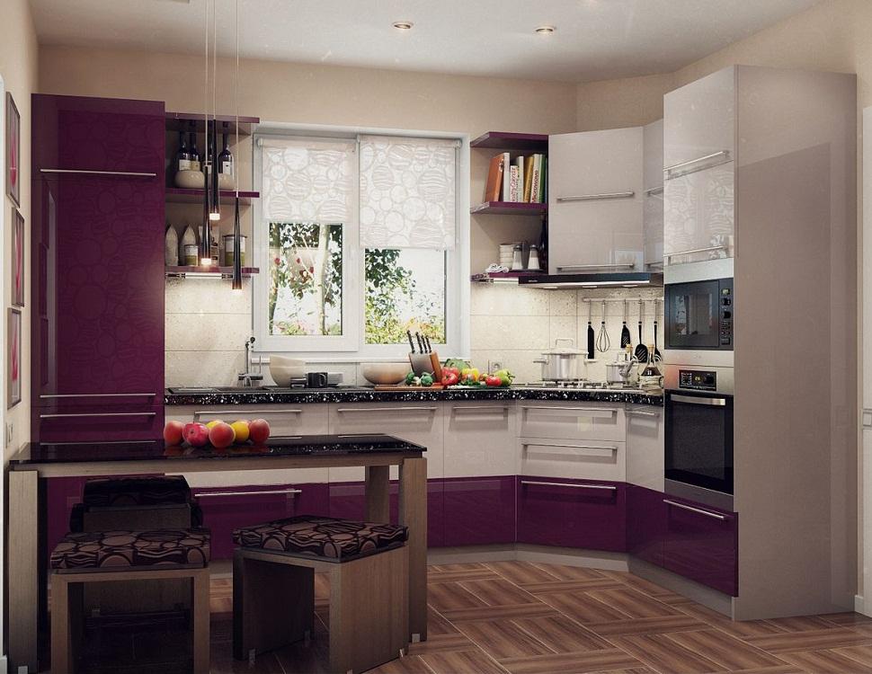 Мебель для маленькой угловой кухни