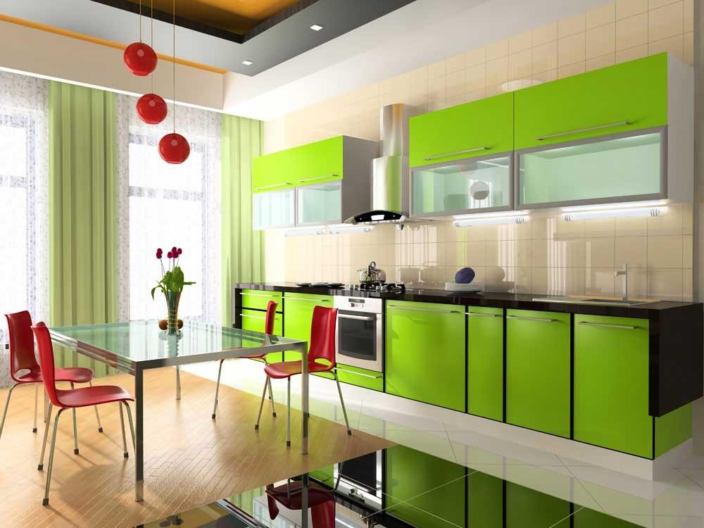 Мебель для зеленой кухни