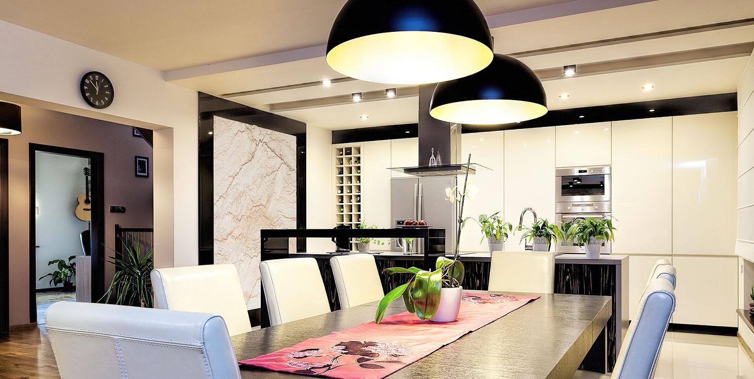 Общее освещение на кухне