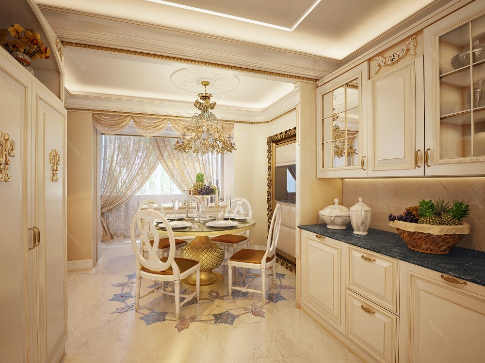 Особенности декора кухни цвета слоновой кости