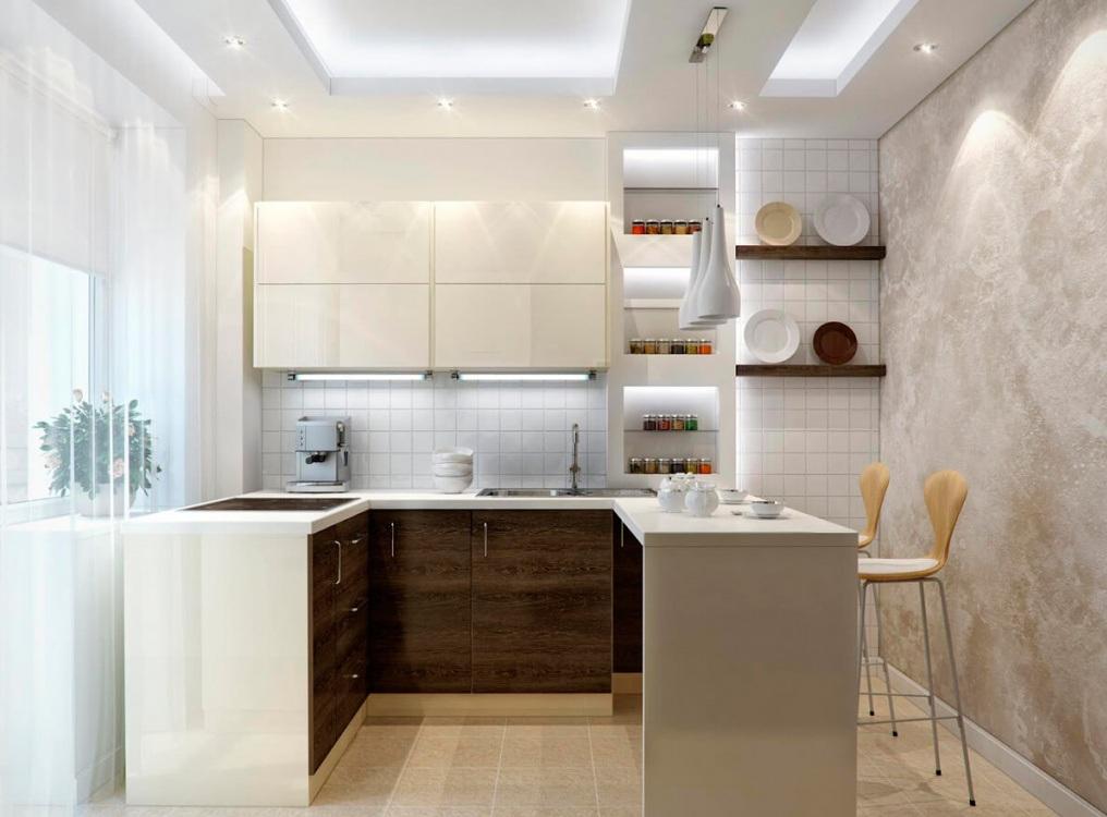 Особенности освещения маленькой кухни