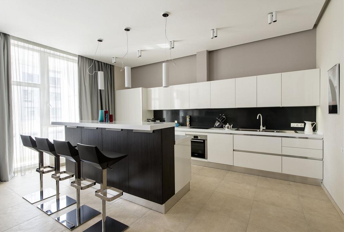 Освещение для кухни в стиле минимализм