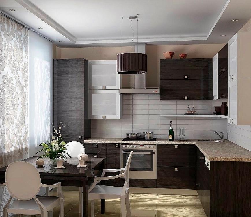 Освещение для маленькой угловой кухни