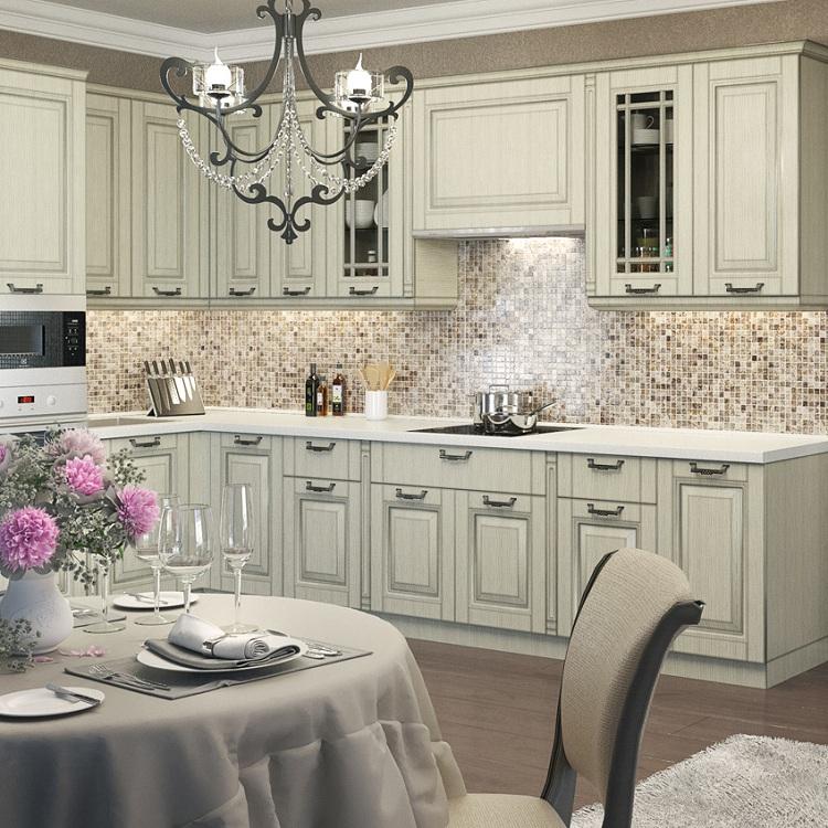 Освещение на кухне с патиной