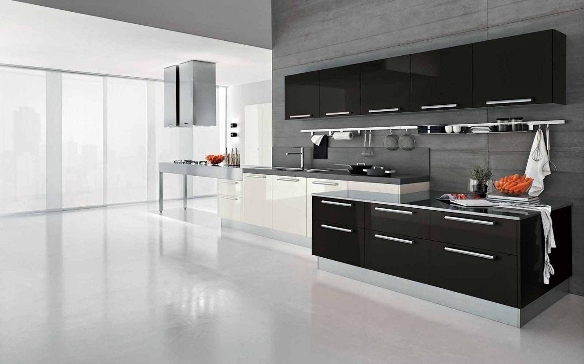 Плюсы и минусы черно-белой кухни