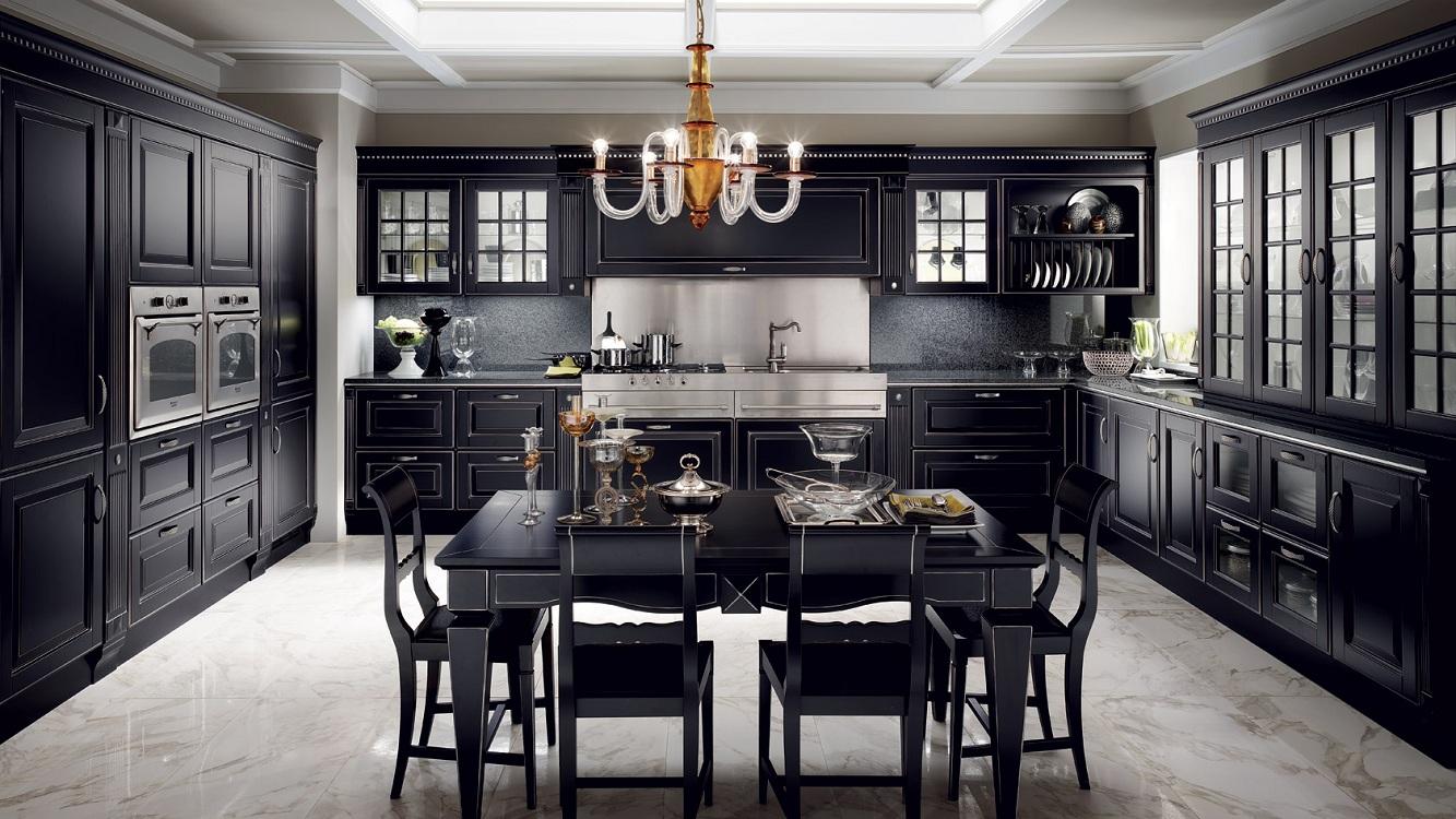 Плюсы и минусы черных кухонь