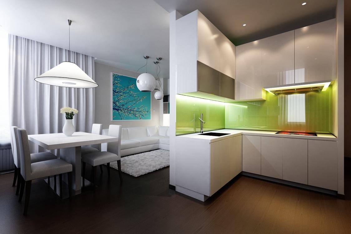 Плюсы и минусы глянцевых кухонь