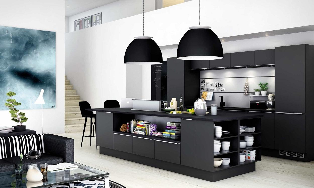 Подбор декора и аксессуаров для черной кухни