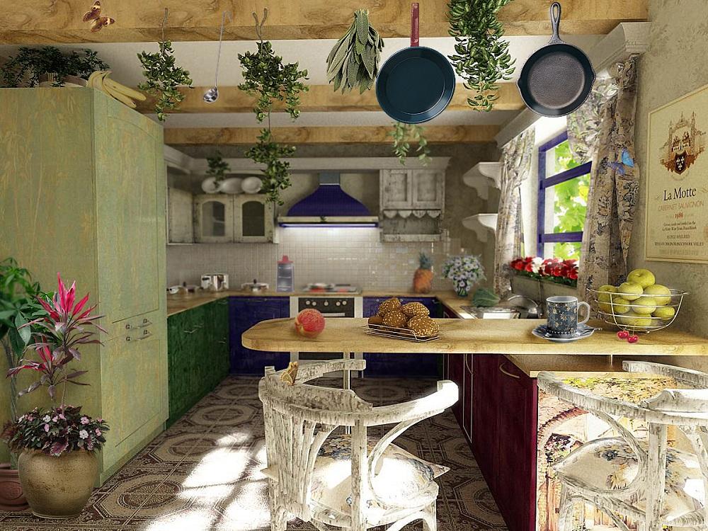 Посуда для кухни в стиле прованс