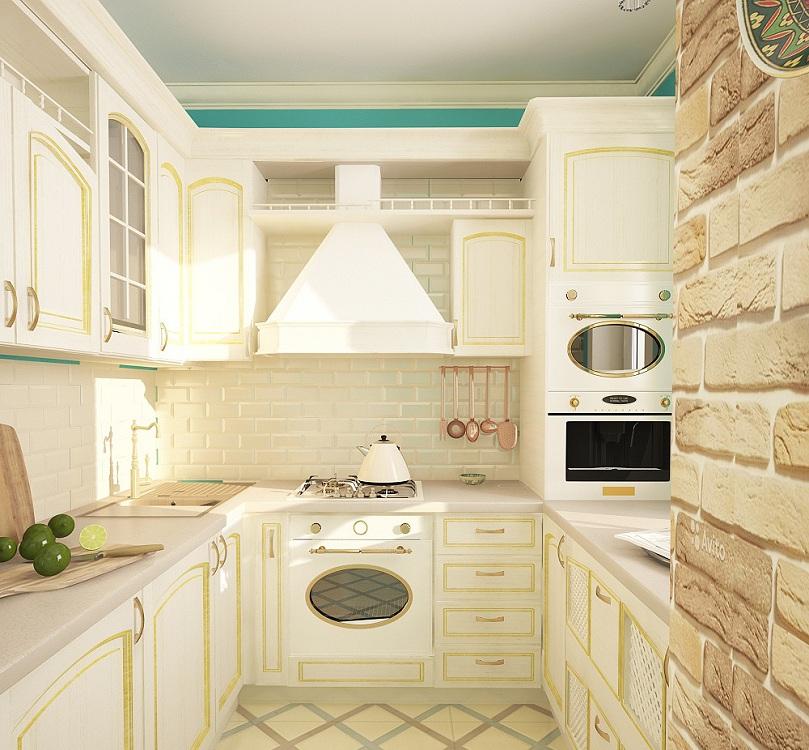 Расстановка кухонной мебели в «сталинке»