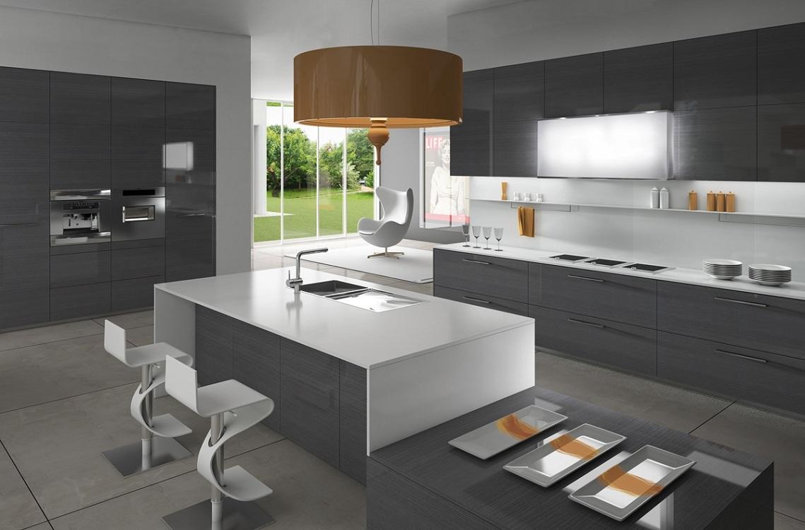 Расстановка техники на кухне в стиле минимализм