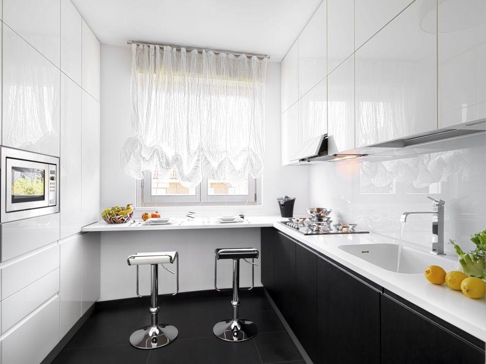 Шторы для черно-белой кухни