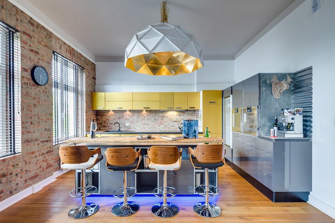 Шторы для кухни в стиле лофт
