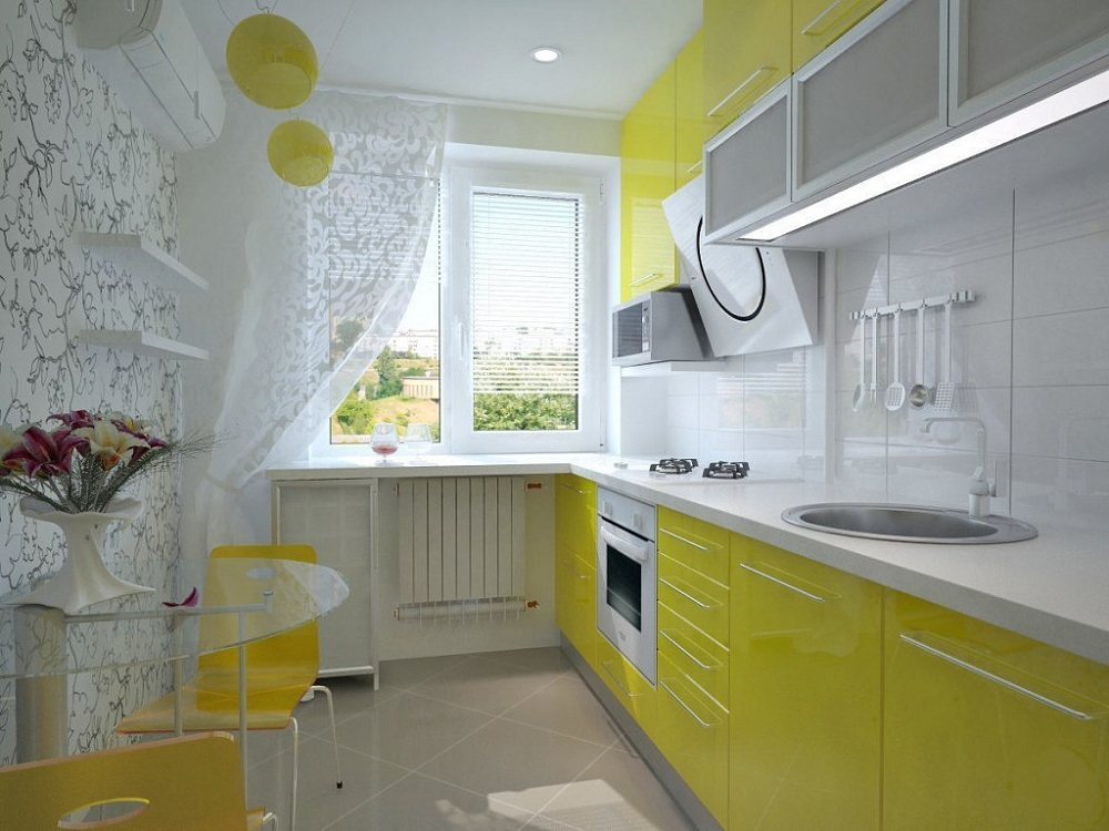 Шторы для лимонной кухни