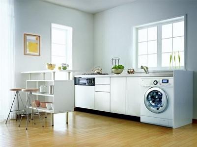 Варианты размещения стиральной машинки на кухне