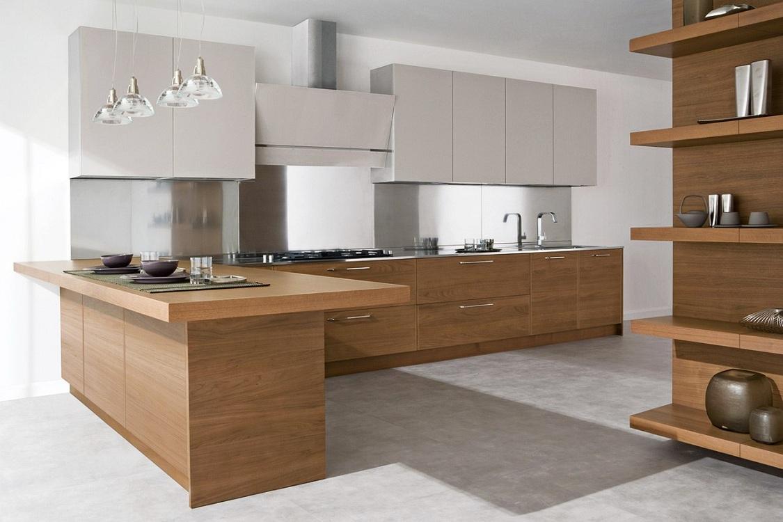 Цветовые решения для кухни из дерева