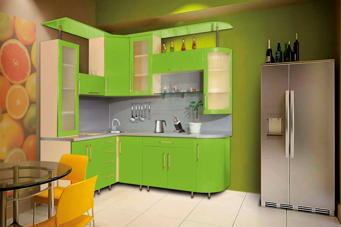 Цветовые решения для маленькой угловой кухни