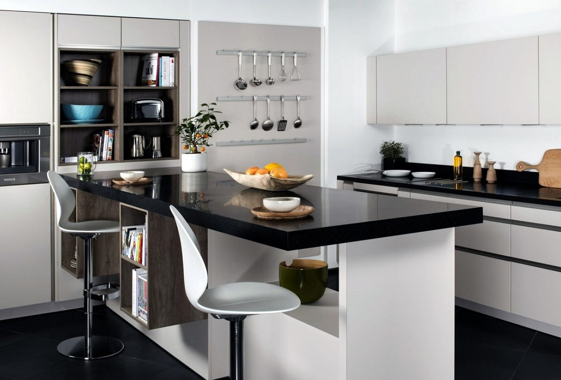 Дизайн угловых кухонных гарнитуров с барной стойкой, фото в интерьере