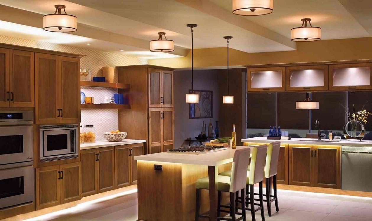 Выбор ламп для освещения на кухне