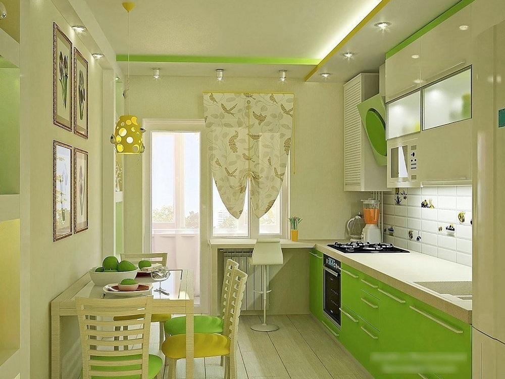 Вытяжка для зеленой кухни