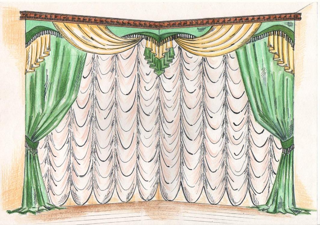 Алгоритм пошива французской шторы