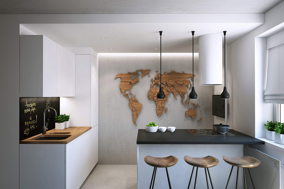 Барная стойка в кухне хрущевке