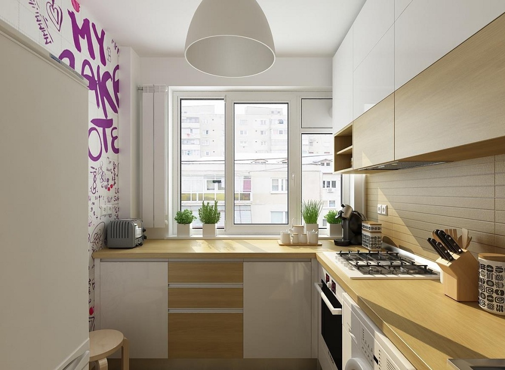Благоустройство 5-метровой кухни