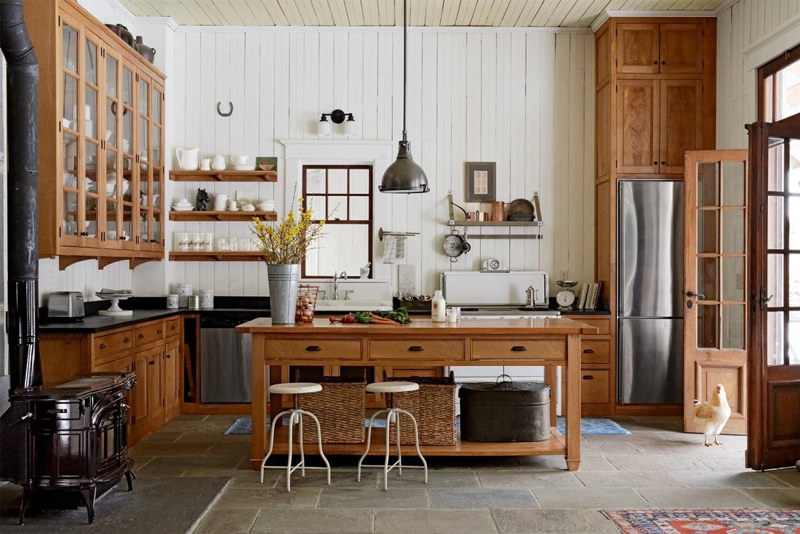 Декор кухни в стиле кантри