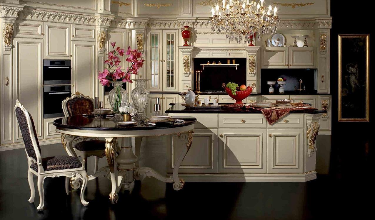 Декорирование кухни в стиле барокко