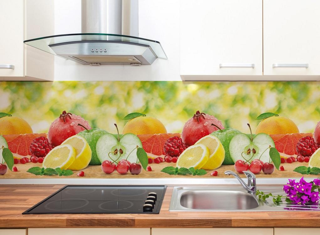 Виды и габариты кухонного фартука из пластика